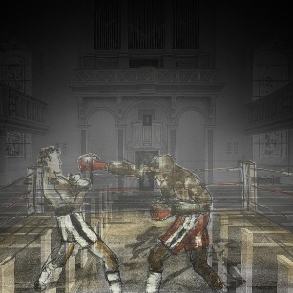 Boxkampf in der umgenutzten evangelischen St.-Georgskirche Hattingen