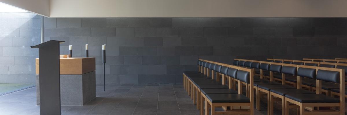 Lichteinfall Friedhof-Kapelle Hattingen Oberstüter Kirchensanierung Kirchenarchitektur