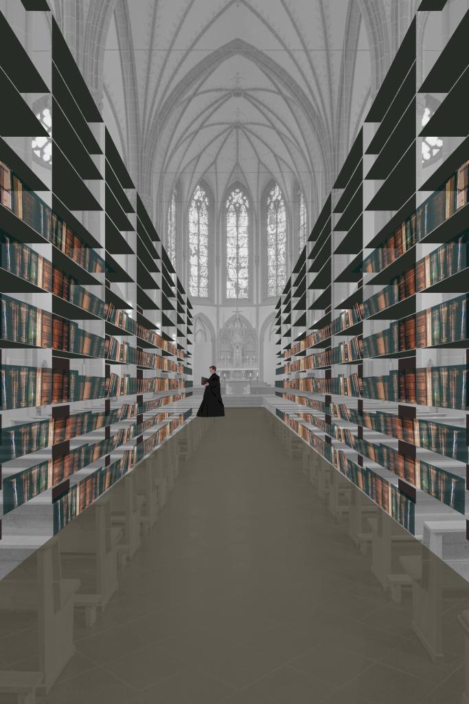 Agneskirche Köln als Bibliothek Umnutzung