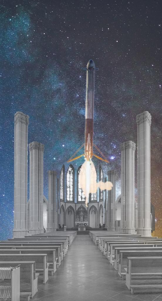 Raketenstart in der Agneskirche Köln